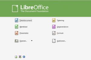 Startscherm LibreOffice opmaakprofielen