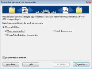 conversieprogramma voor documenten